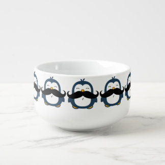 Mustache Penguin Soup Mug