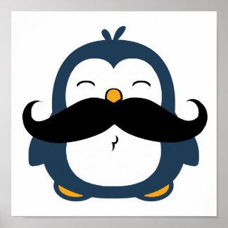 Mustache Penguin Trend Poster