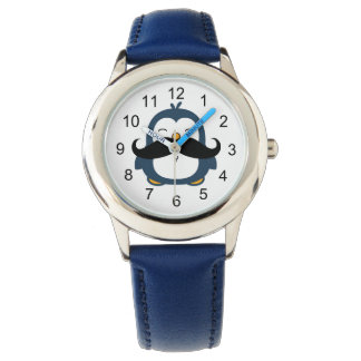 Mustache Penguin Wristwatch