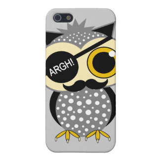 mustache pirate owl iPhone 5/5S covers