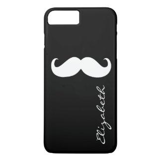 Mustache Plain Black Background iPhone 7 Plus Case