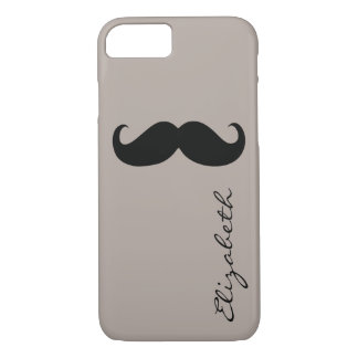 Mustache Plain Tan Background iPhone 7 Case