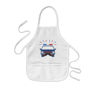 Mustache Police apron - choose style & color