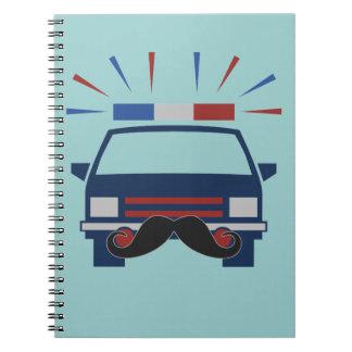 Mustache Police custom color notebook