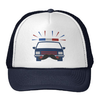 Mustache Police hat - choose color