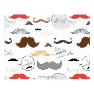 Mustache Post Card