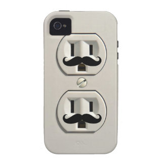 Mustache power outlet iPhone 4 cover