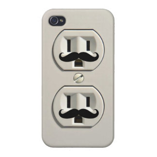 Mustache power outlet iPhone 4 cases