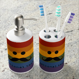Mustache Pride custom bathroom set