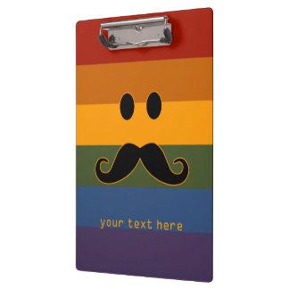 Mustache Pride custom clipboard