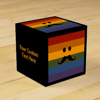 Mustache Pride custom favor boxes