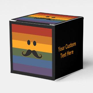Mustache Pride custom favor boxes Wedding Favour Boxes