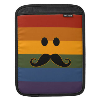 Mustache Pride custom iPad sleeve