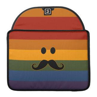 Mustache Pride custom MacBook sleeve