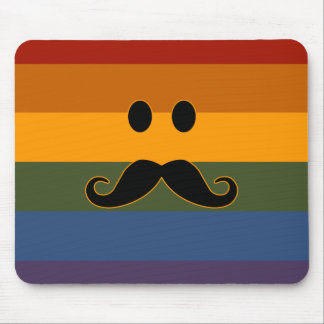 Mustache Pride custom mousepad