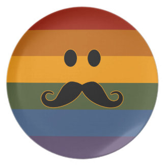 Mustache Pride custom plate