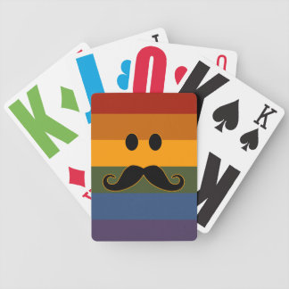 Mustache Pride custom playing cards