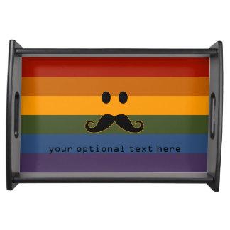 Mustache Pride custom tray