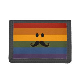Mustache Pride custom wallets