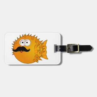 Mustache Puffer Fish Luggage Tag