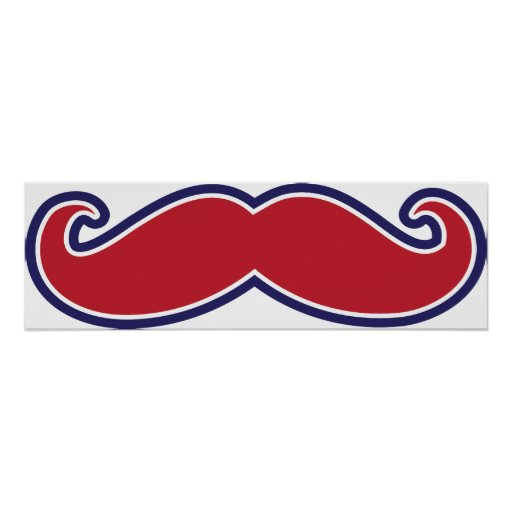 Mustache - Red, White and Blue Print