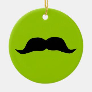 Mustache Round Ceramic Decoration