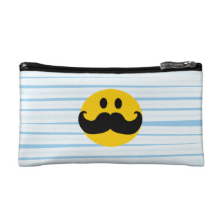 Mustache Smiley Cosmetic Bag