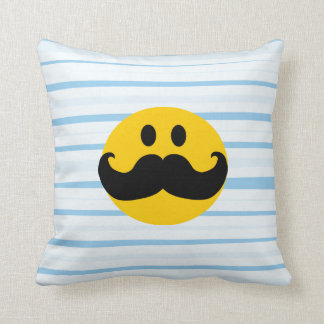 Mustache Smiley Cushion