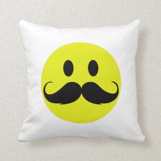 Mustache smiley cushion
