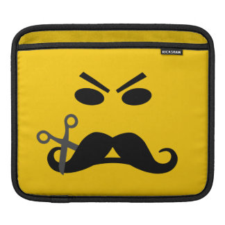 Mustache Smiley custom laptop / iPad sleeve