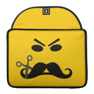 Mustache Smiley custom MacBook sleeve