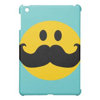 Mustache Smiley (Customizable background color) iPad Mini Cover