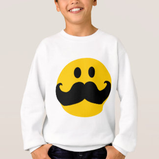 Mustache Smiley (Customizable background color) Sweatshirt
