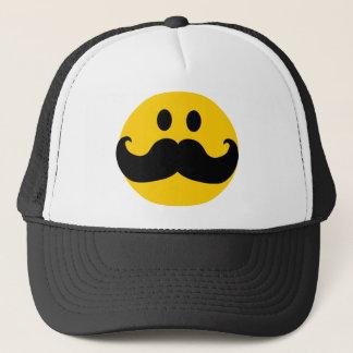 Mustache Smiley hat