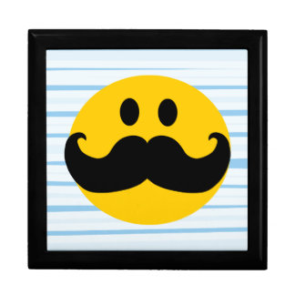 Mustache Smiley Large Square Gift Box