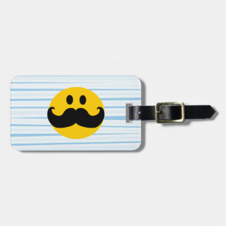 Mustache Smiley Luggage Tag