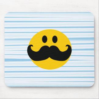 Mustache Smiley Mouse Mat