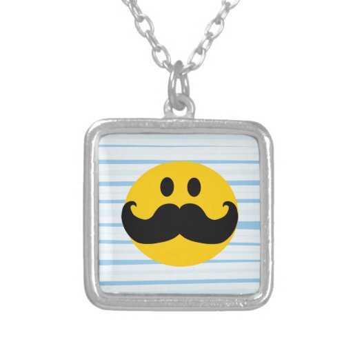 Mustache Smiley Necklace