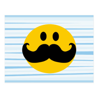 Mustache Smiley Postcard