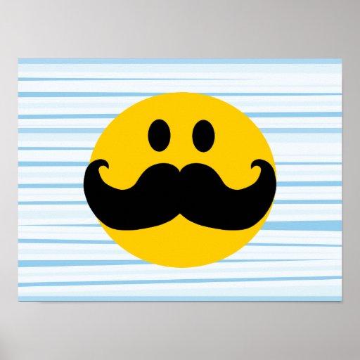 Mustache Smiley Print