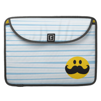 Mustache Smiley Sleeve For MacBook Pro