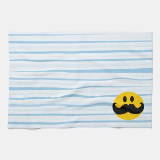 Mustache Smiley Tea Towel