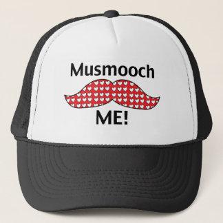 Mustache Smooch Me Trucker Hat
