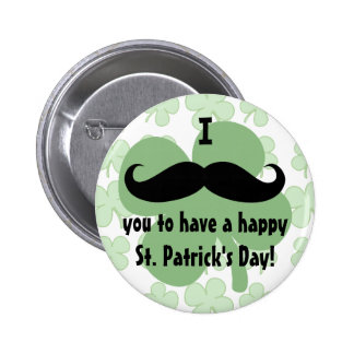 Mustache St. Patrick's Day Pin