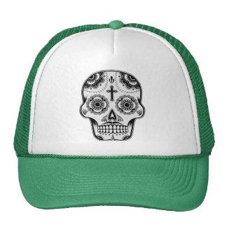 Mustache sugar skull cap