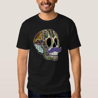 Mustache Sugar Skull Men's Shirt