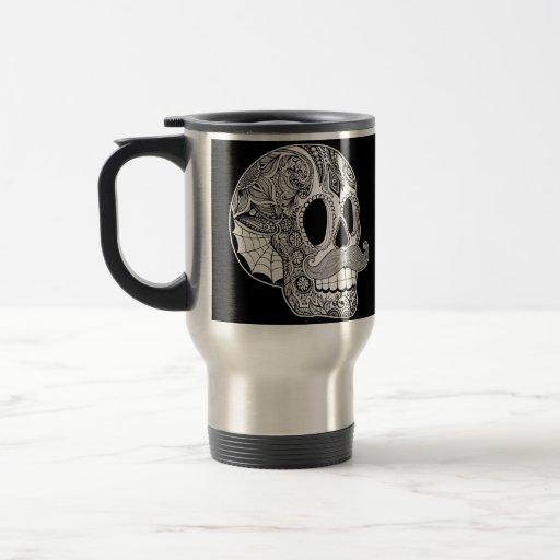 Mustache Sugar Skull Mug