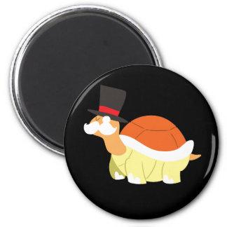 Mustache Turtle 6 Cm Round Magnet