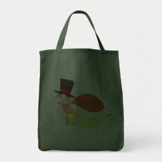 Mustache Turtle Grocery Tote Bag