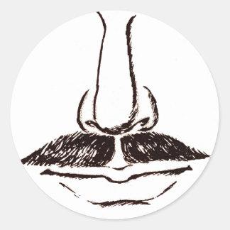 Mustache Vintage Surrealist Stickers